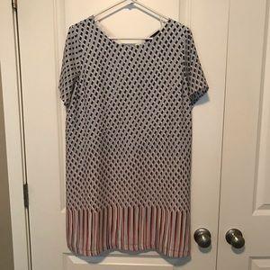 Fun Print Shift Dress
